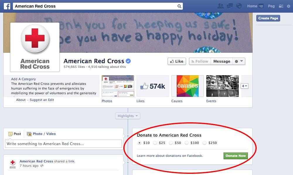 Facebook: un pulsante per rendere le donazioni più facili