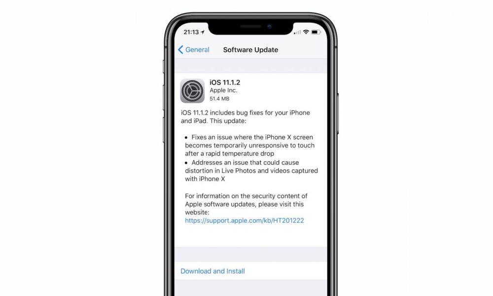 Apple rilascia iOS 11.1.2 e risolve il problema del display di iPhone X