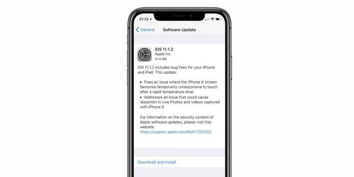Apple ios aggiornamento