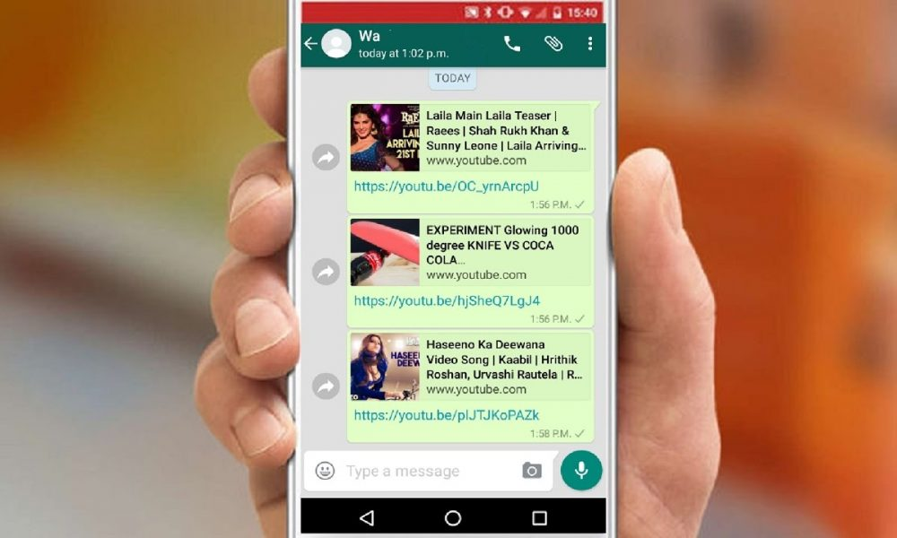 WhatsApp: i video di YouTube li puoi guardare dentro l'app