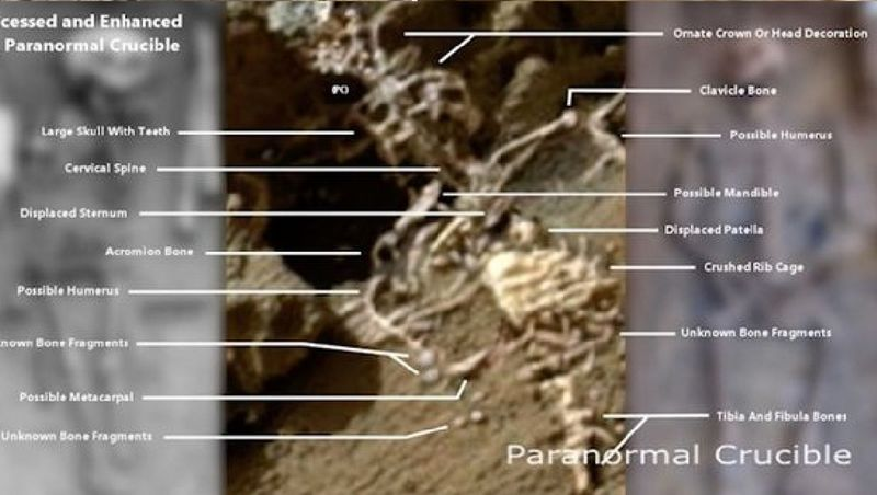 Marte: la Nasa ha fotografato uno scheletro alieno?